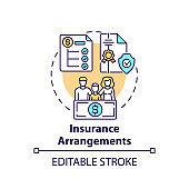 Insurance arrangements concept icon