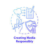 Creating media responsibility concept icon