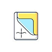Mattress cover RGB color icon
