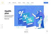 Health plans - medical insurance web template