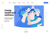 Family health and wellness - medical insurance web template