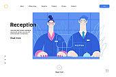 Hospital reception - medical insurance web template