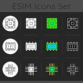 ESIM Icons set