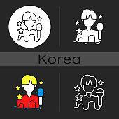K pop dark theme icon