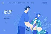 Auscultation - medical insurance web template