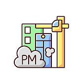 Demolition sites RGB color icon