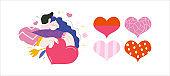 Embracing couple - Valentine graphics