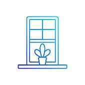 Windowsills linear vector icon