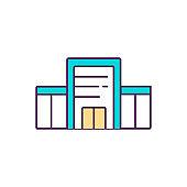 Vaccination center RGB color icon