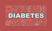 Diabetes word concepts banner