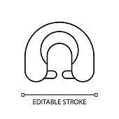 Travel pillow linear icon