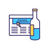 Wine knowledge improvement RGB color icon