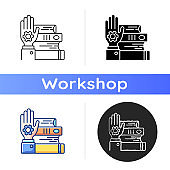 Hands-on learning icon