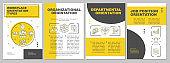 Workplace orientation brochure template