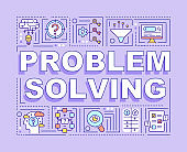 Problem solving word concepts banner
