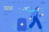 Medical tourism - medical insurance web template