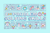 Problem solving skills word concepts banner