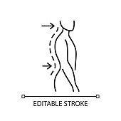 Lumbar lordosis linear icon