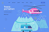 Medical transportation - medical insurance web template