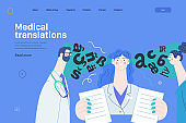 Medical translations - medical insurance web template