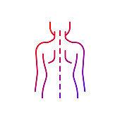 Good posture gradient linear vector icon