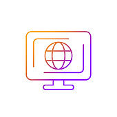 Cyberspace gradient linear vector icon