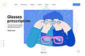 Opticians shop - medical insurance illustration