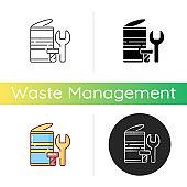 Metal waste icon