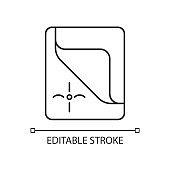 Mattress cover linear icon