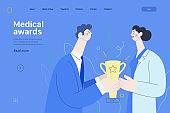 Medical awards - medical insurance web template
