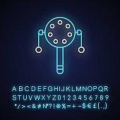 Pellet drum neon light icon