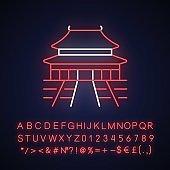The Forbidden City neon light icon