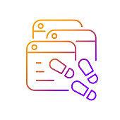 Digital trail gradient linear vector icon