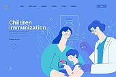 Childhood immunization - medical insurance web template
