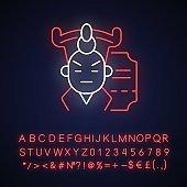 Chinese opera neon light icon