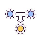 Covid mutation RGB color icon
