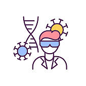 Microbiology specialist RGB color icon