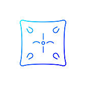 Cushion gradient linear vector icon