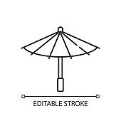 Korean umbrella linear icon