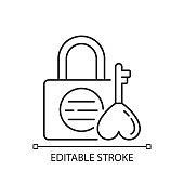 Namsan love locks linear icon