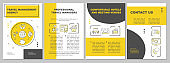 Book flights, hotels, cars brochure template