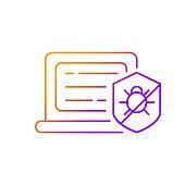 Antivirus software gradient linear vector icon