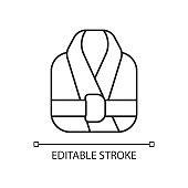 Bath robe linear icon