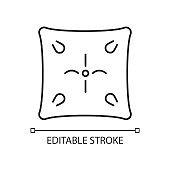 Cushion linear icon