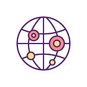 Pandemic RGB color icon