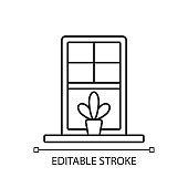Windowsills linear icon