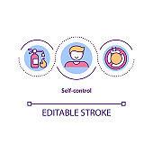 Self control concept icon