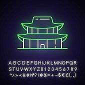 Gyeongbok palace neon light icon
