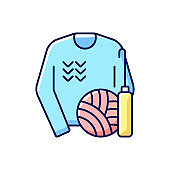 Knitwear alteration and repair RGB color icon