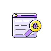 Web bug purple RGB color icon